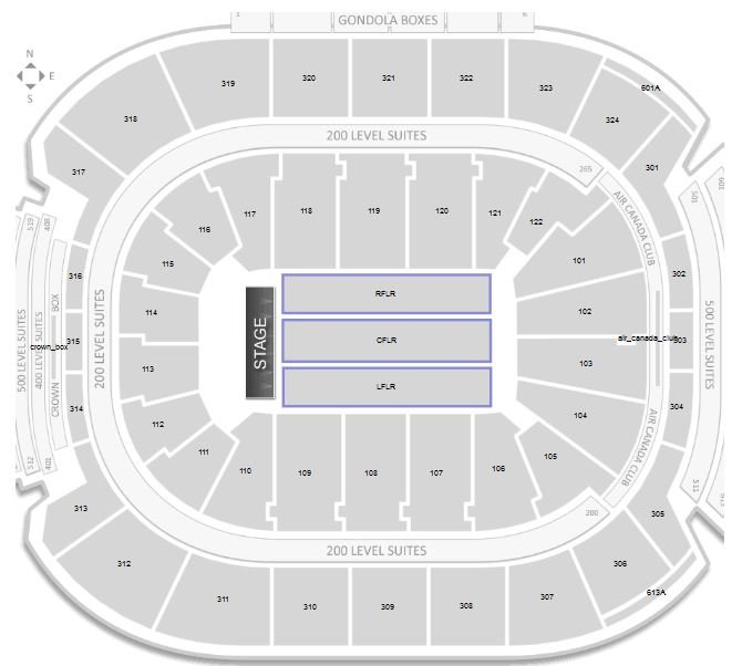 Air Canada Centre Floor Sections