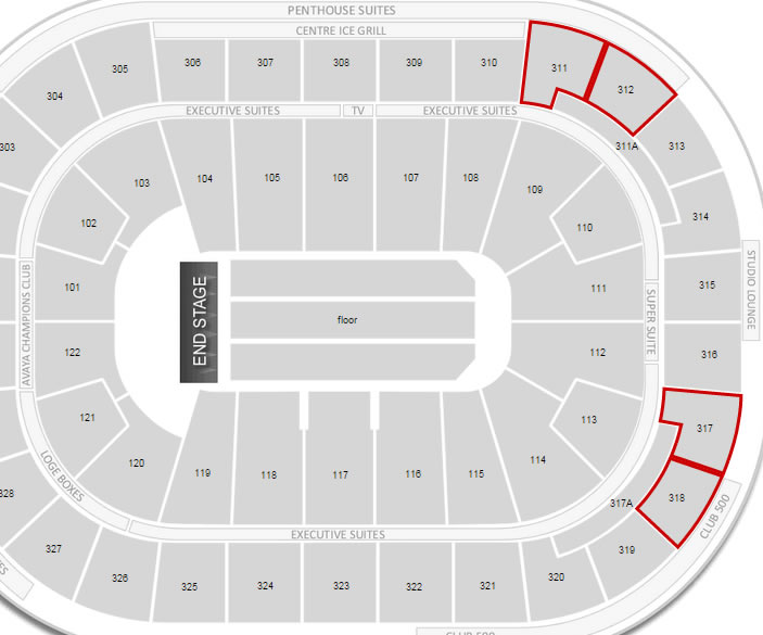 Rogers Arena Concert Seating Chart Interactive Map