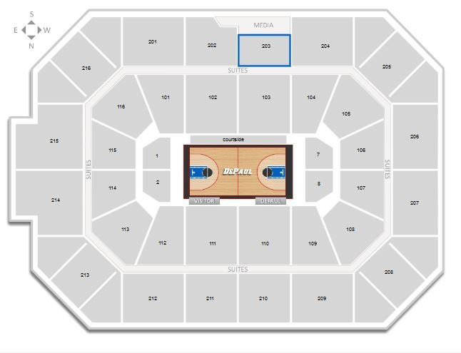 Northwestern Basketball Allstate Arena Seating Chart