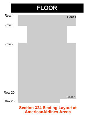 how is section 324 row 20 for a concert at americanairlines arena