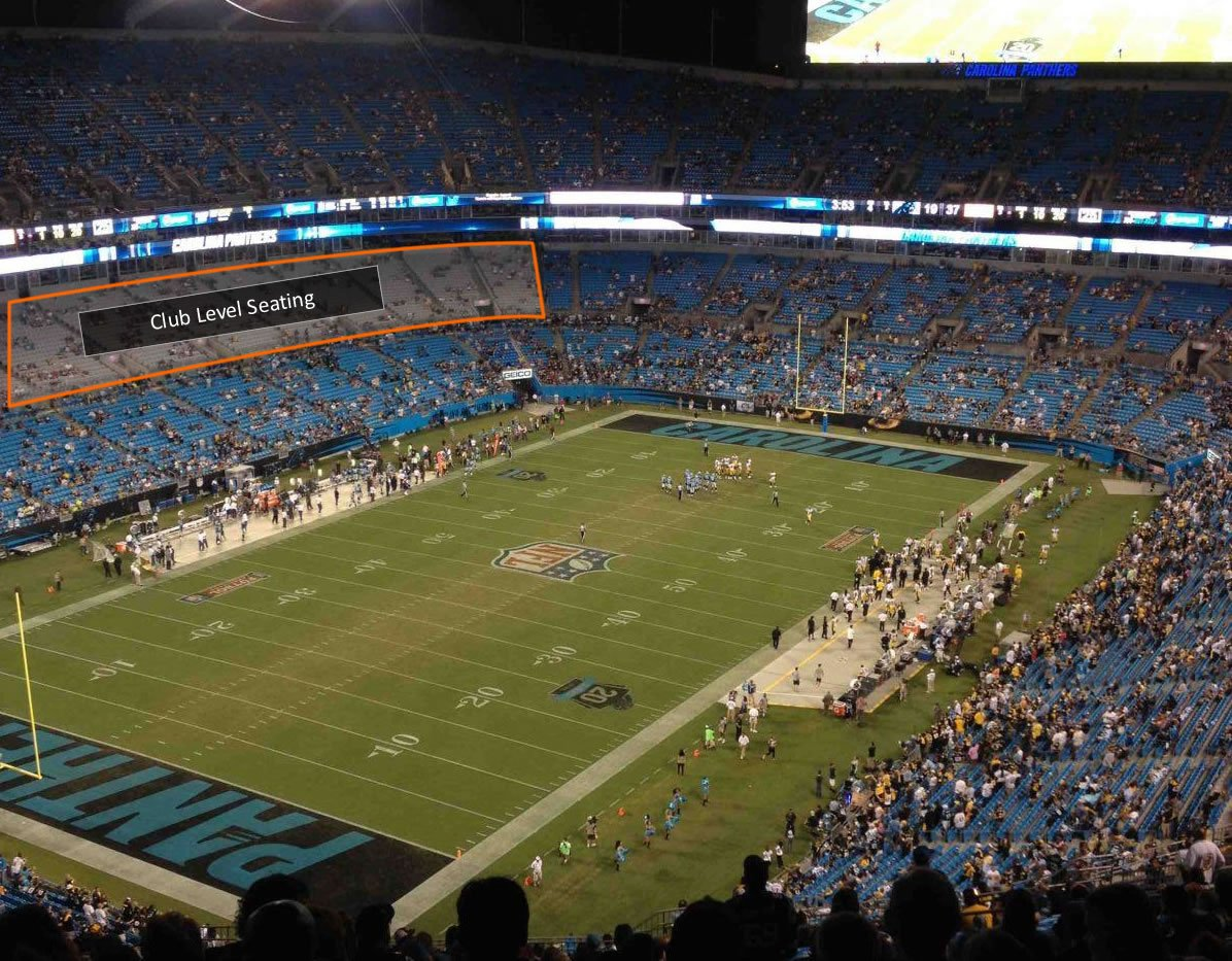 Club Seating Coverage at Bank of America Stadium