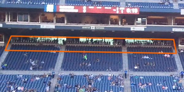 Covered seating on the Club Level at CenturyLink Field