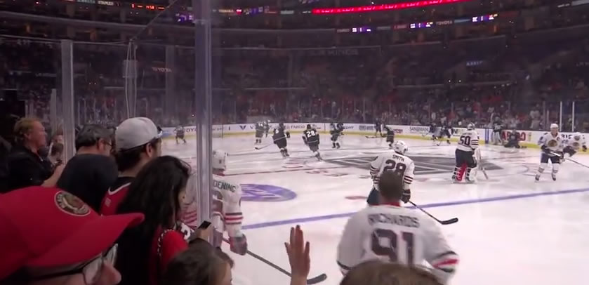 Visitor fans at Staples Center