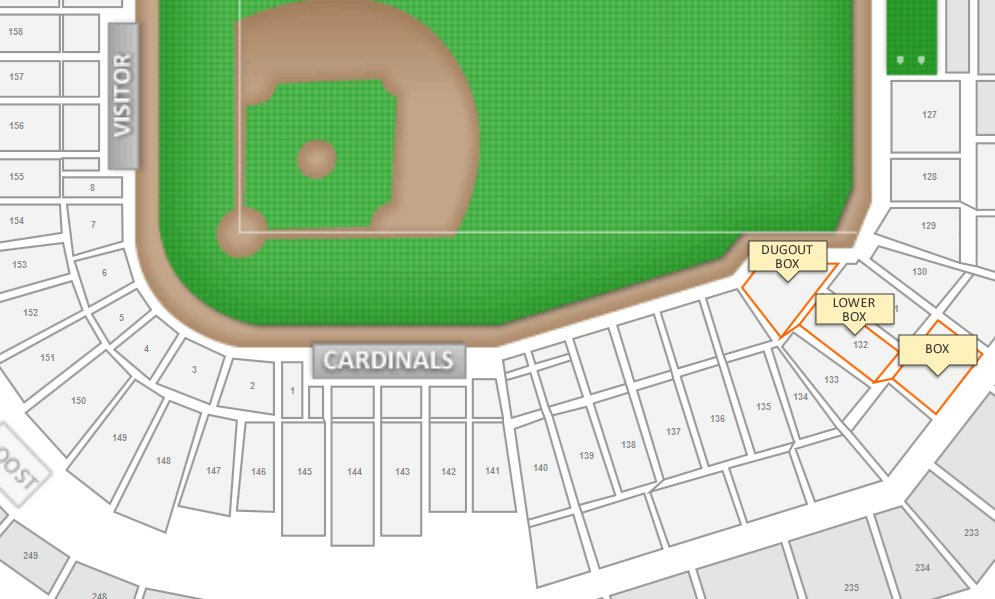 Seating Structure in Section 132 at Busch Stadium