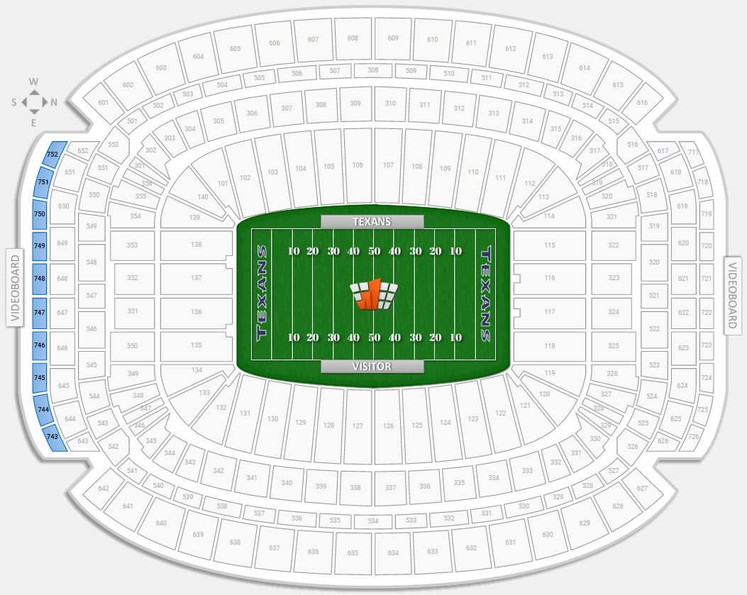 Is Section 751 Row R A Part Of The Chairmans Club At Nrg