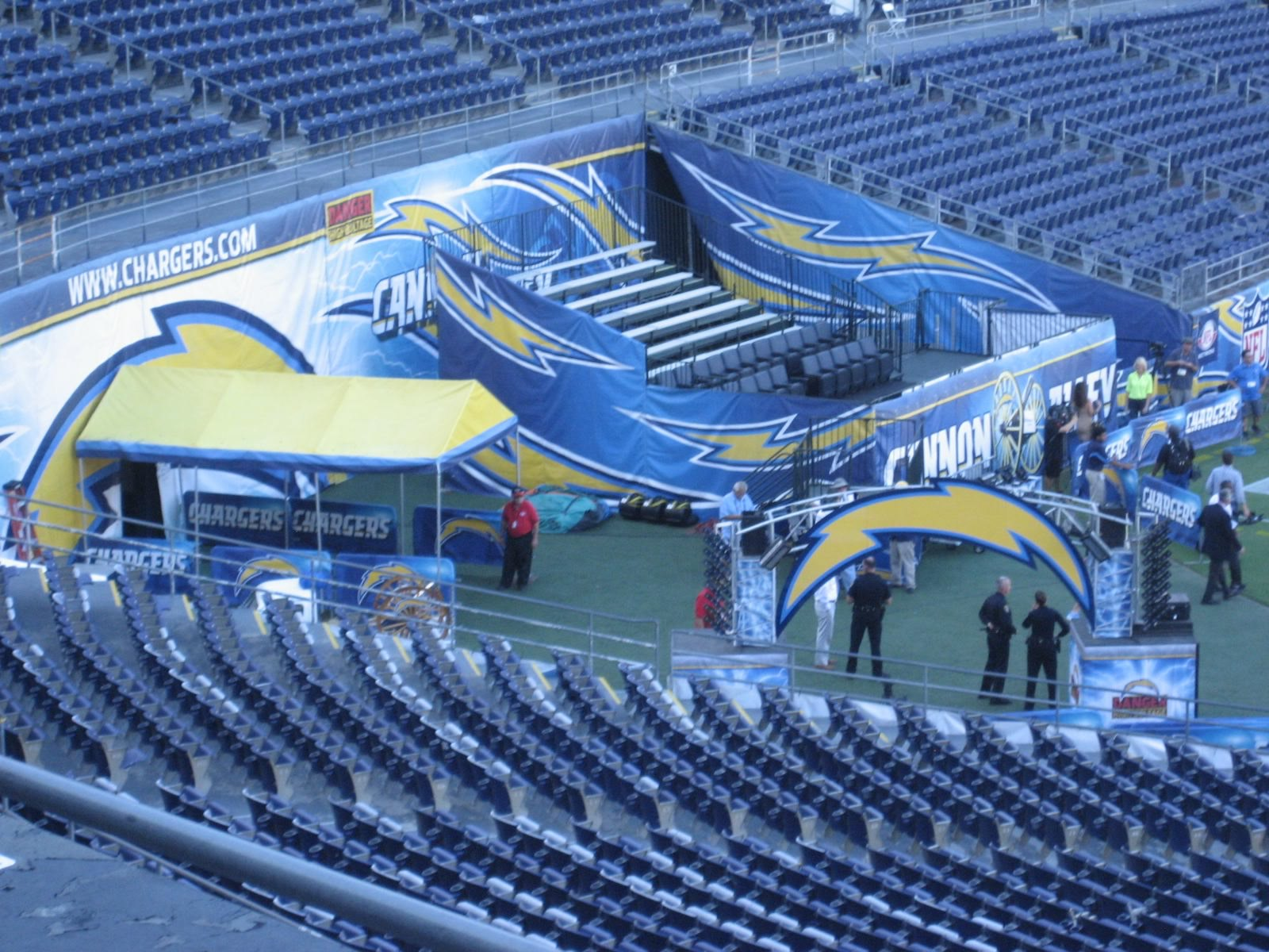Where Are The Player Entry Tunnels At Qualcomm Stadium