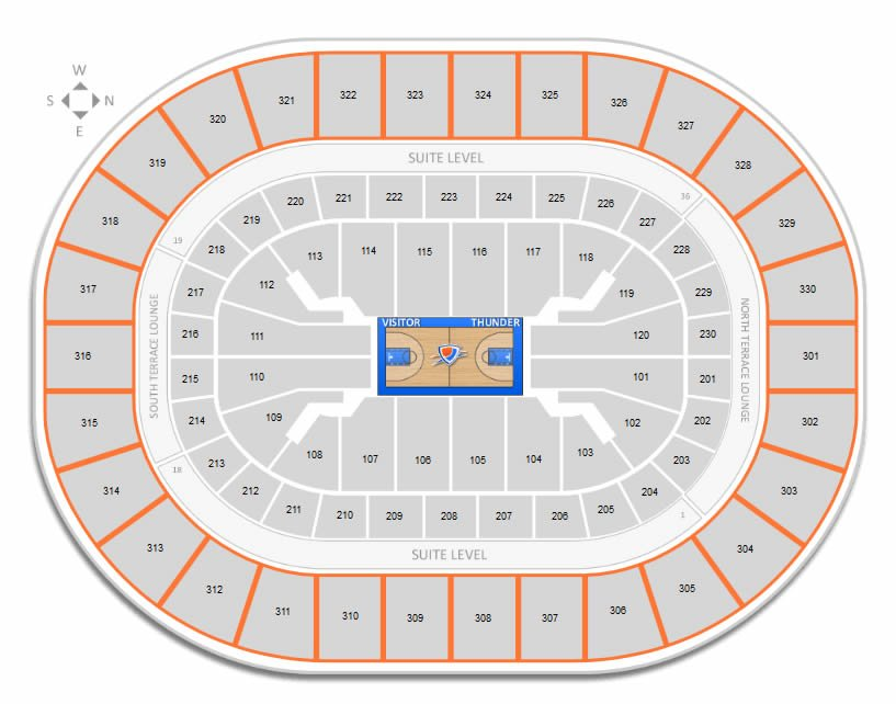Loud City Seating At Chesapeake Energy Arena