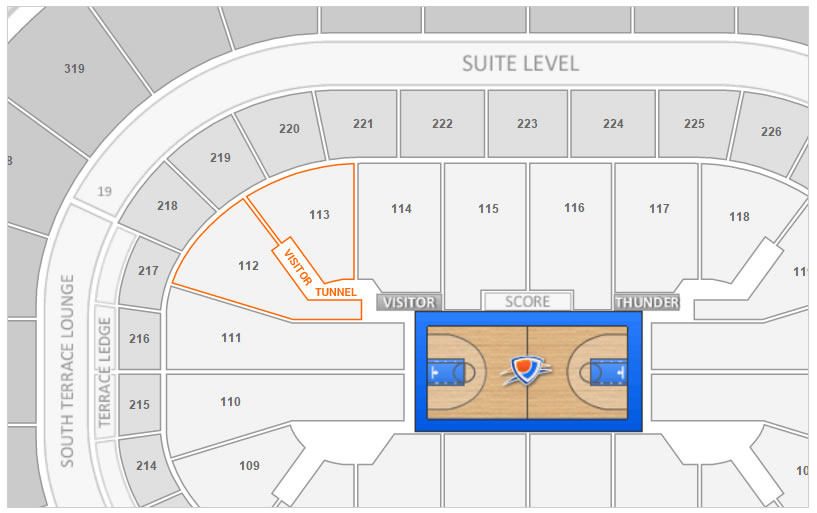 Chesapeake Energy Arena Interactive Seat Map Elcho Table