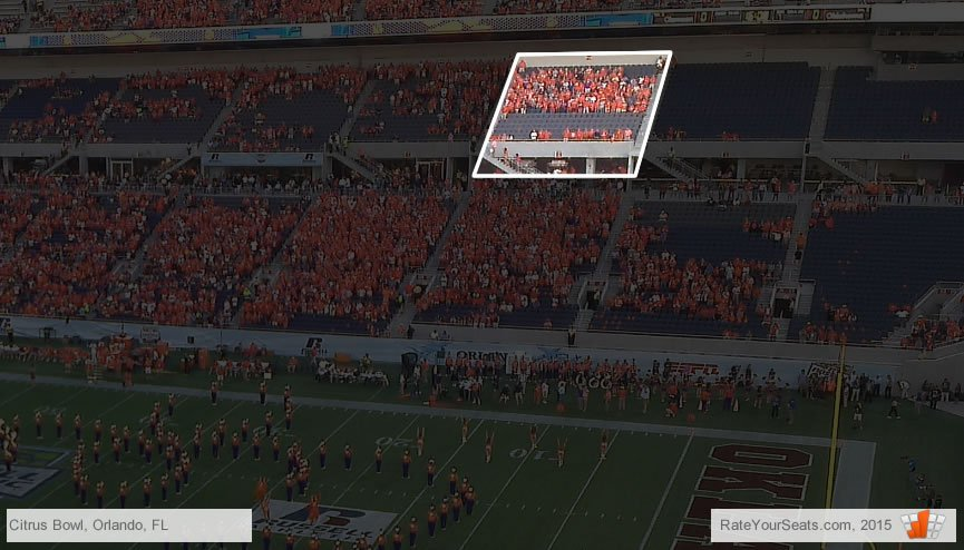Camping World Stadium Seating Chart Interactive Map