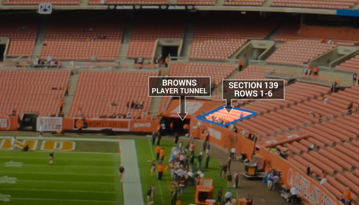 Browns Entry Tunnel at First Energy Stadium