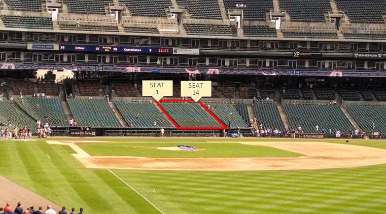 Comerica Park Section 134 Seating Row Layout