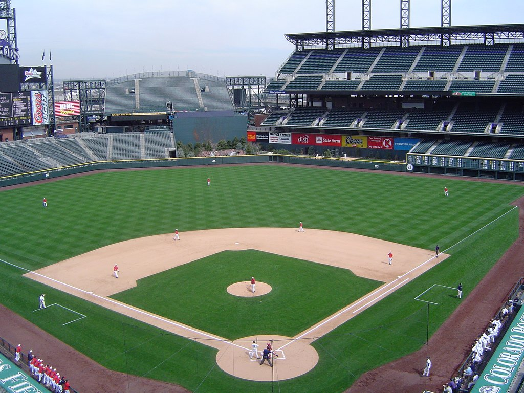 Right field cover at Coors Field