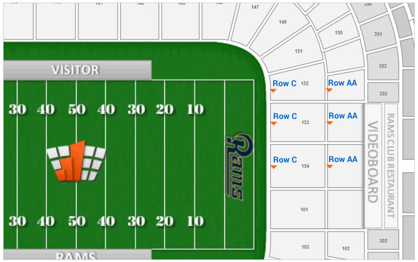 Edward Jones Dome Seating Row Layout