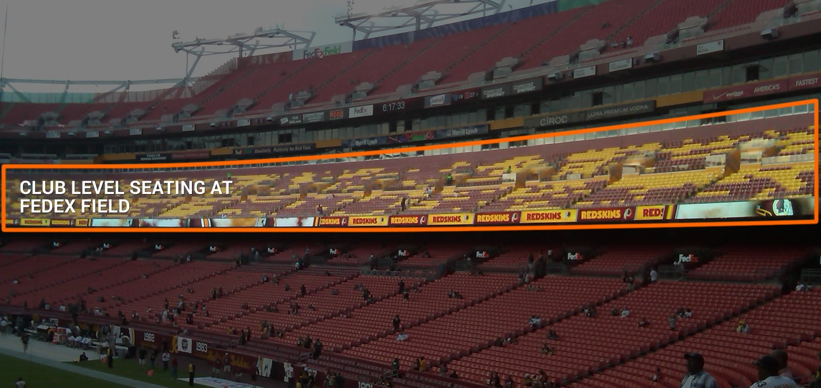 Open Air Club Seating at FedEx Field