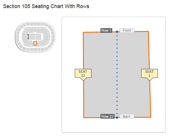 First Niagara Center Section 105 Row 13 Seating Layout