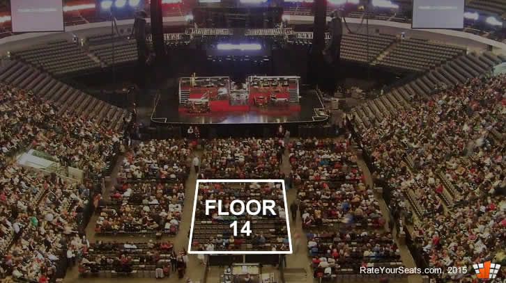 Can i see the stage from floor section 14 at aac in dallas for 13 floor in dallas
