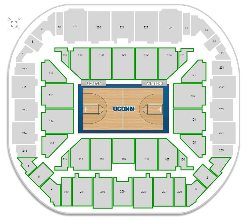 Connecticut basketball gampel pavilion seating chart rateyourseats com