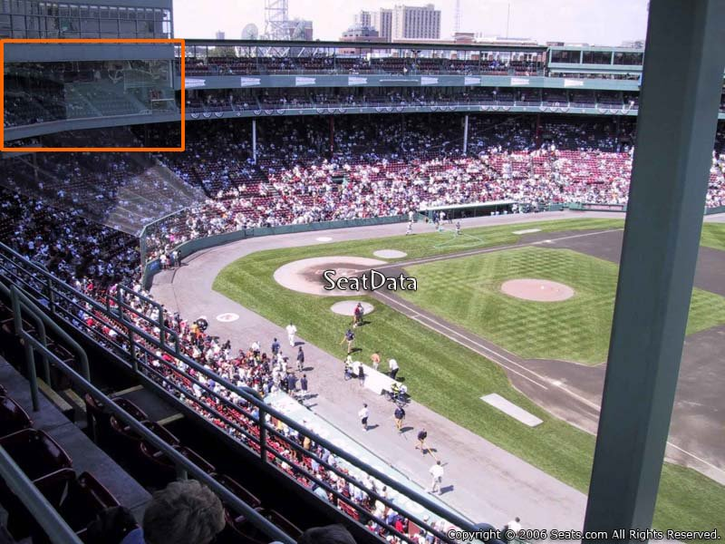 Home Plate Pavilion Seating Coverage at Fenway Park