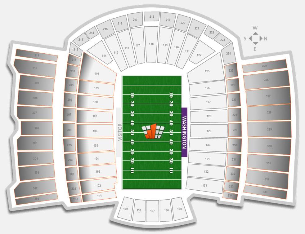 Football Husky Stadium Seating Chart