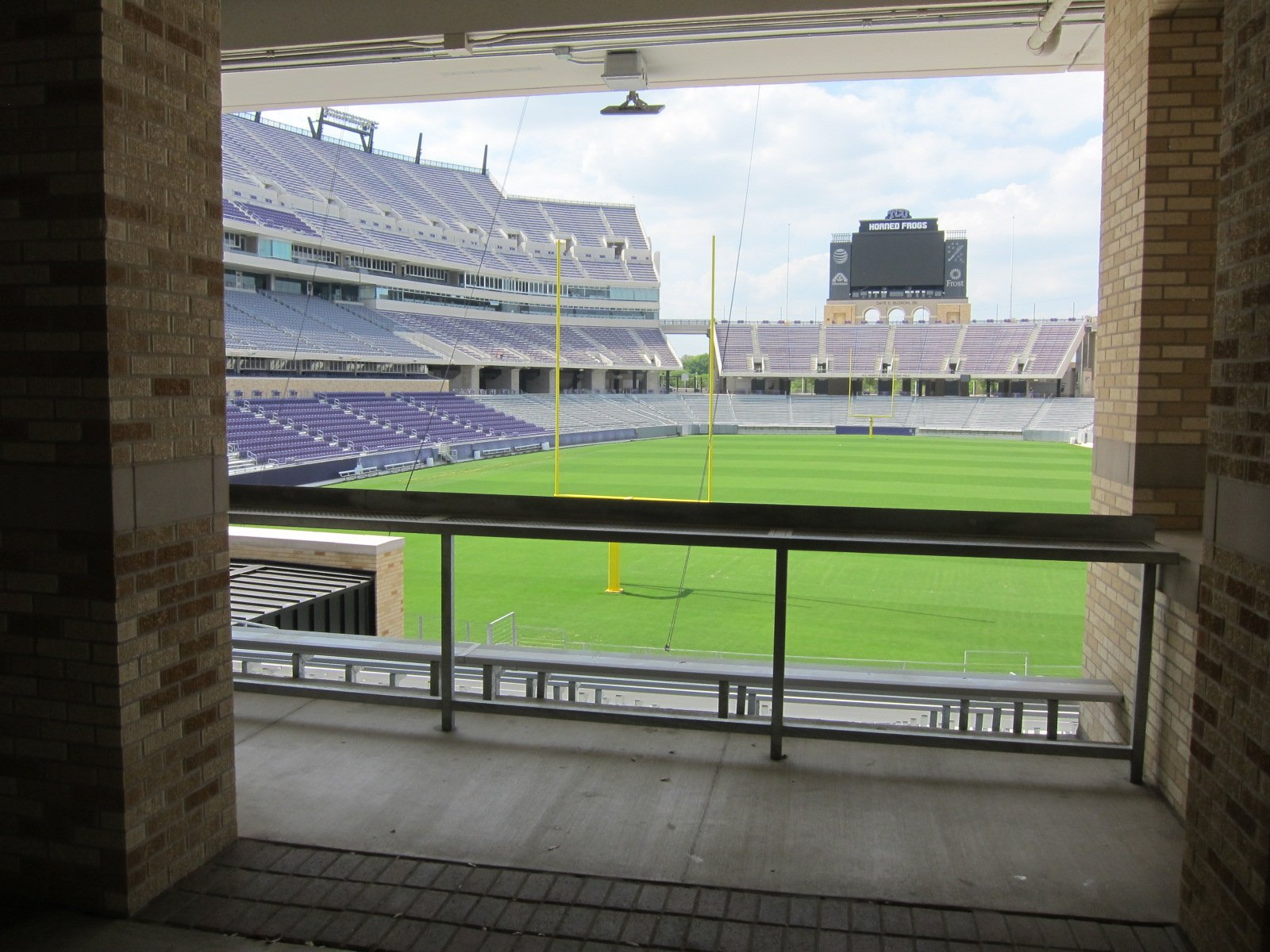 South endzone standing room area at Amon Carter Stadium