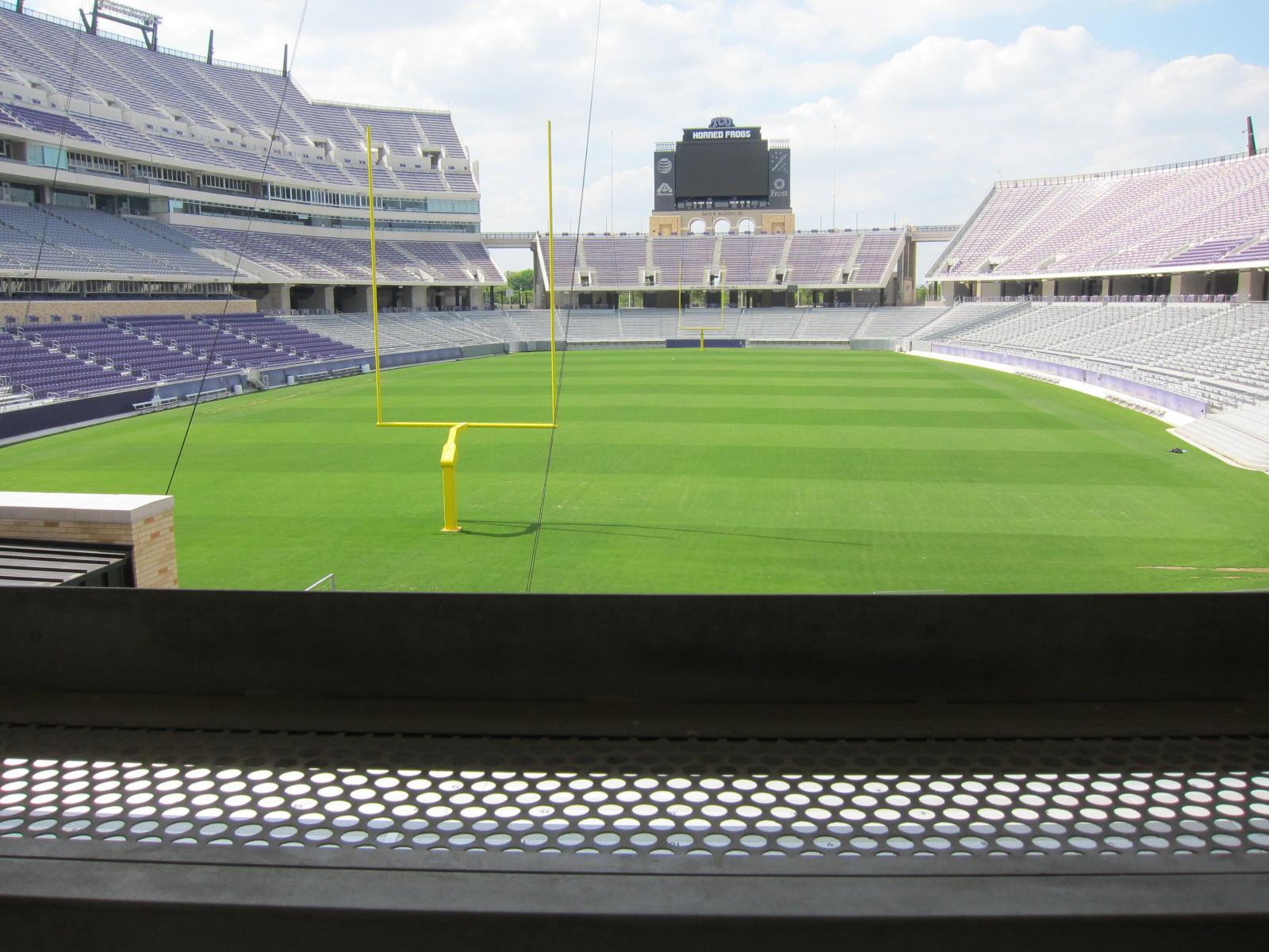 Field view from the South Endzone standing room area at Amon Carter Stadium