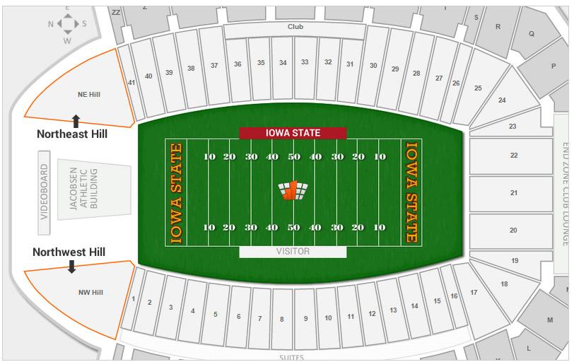 Iowa State Football Jack Trice Stadium Seating Chart