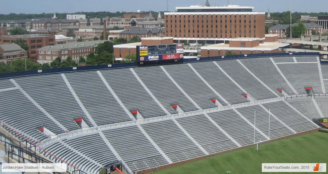 How Many Rows In Lower Level North Endzone At Jhs Sections The Jordan Hare Stadium