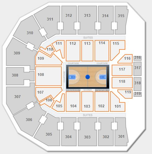 Lower Level Seating at John Paul Jones Arena