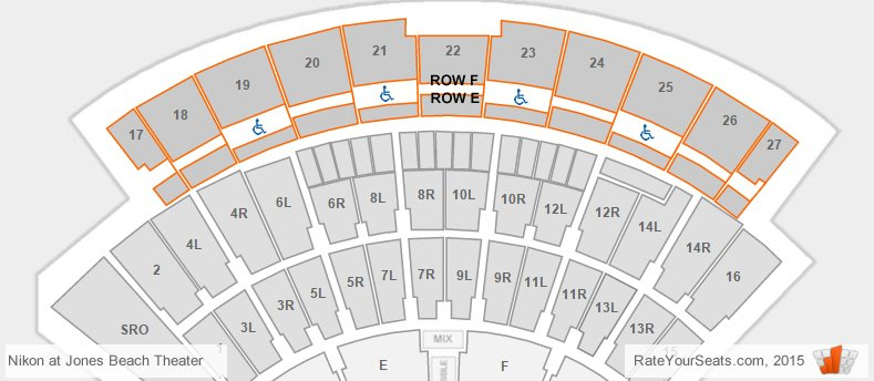 Northwell health at jones beach theater seating chart