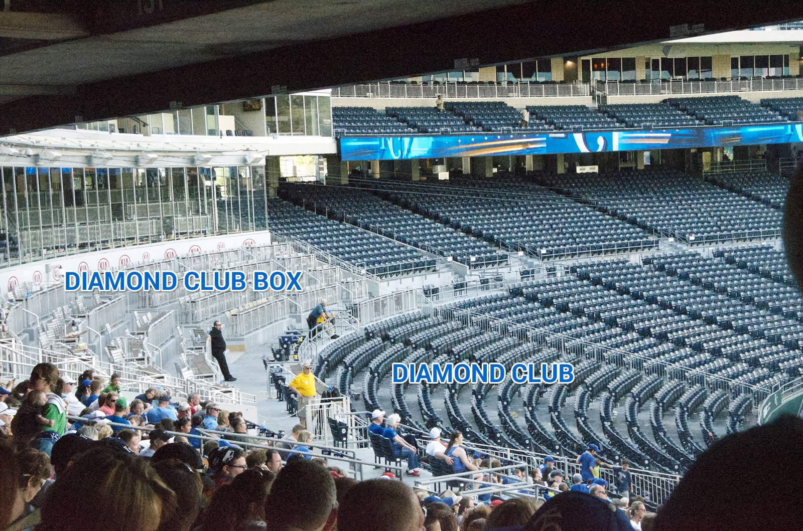 Diamond Club and Diamond Club Box Seating at Kauffman Stadium