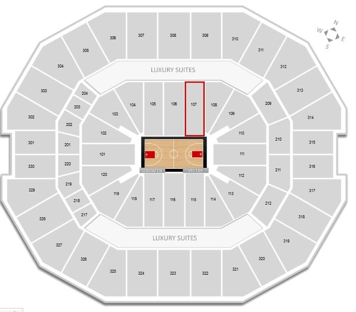 Section 107 at KFC Yum! Center