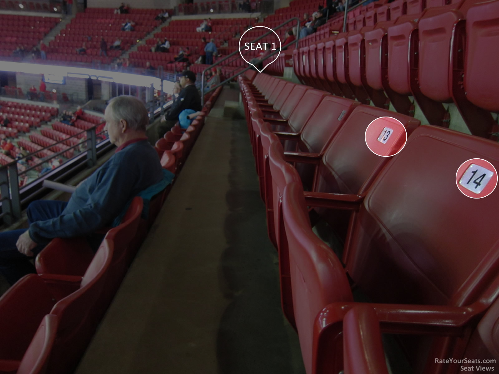 Seating progression at the Kohl Center