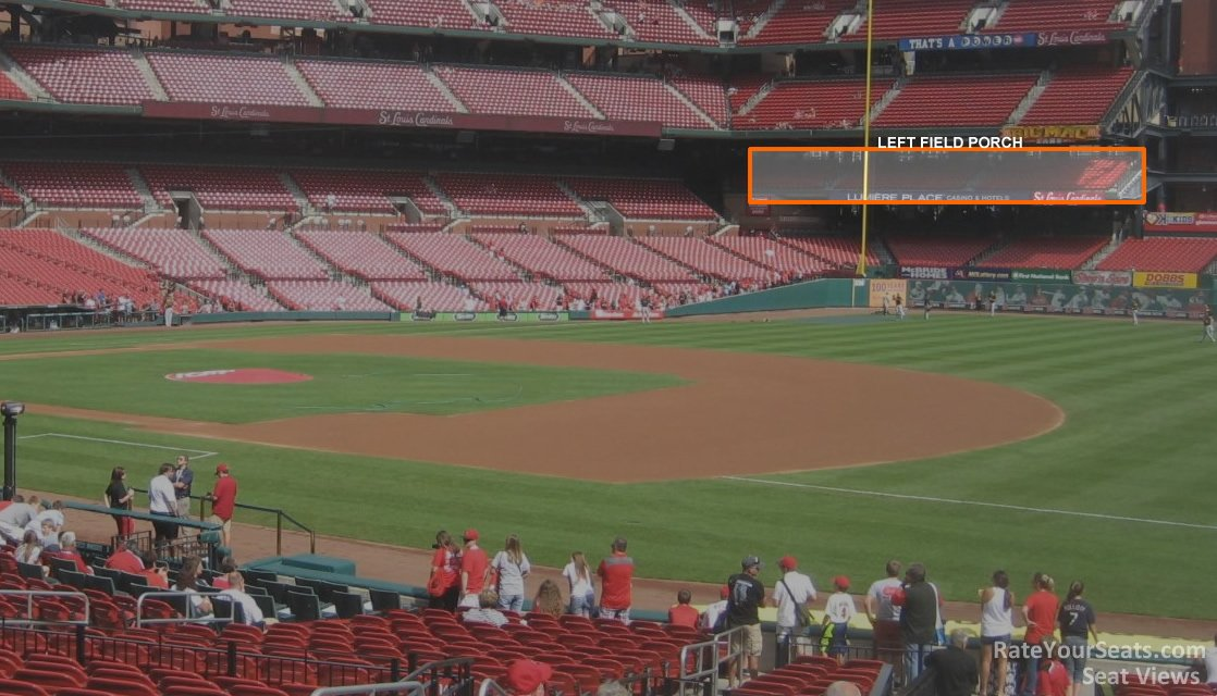 Left Field Porch Seats at Busch Stadium
