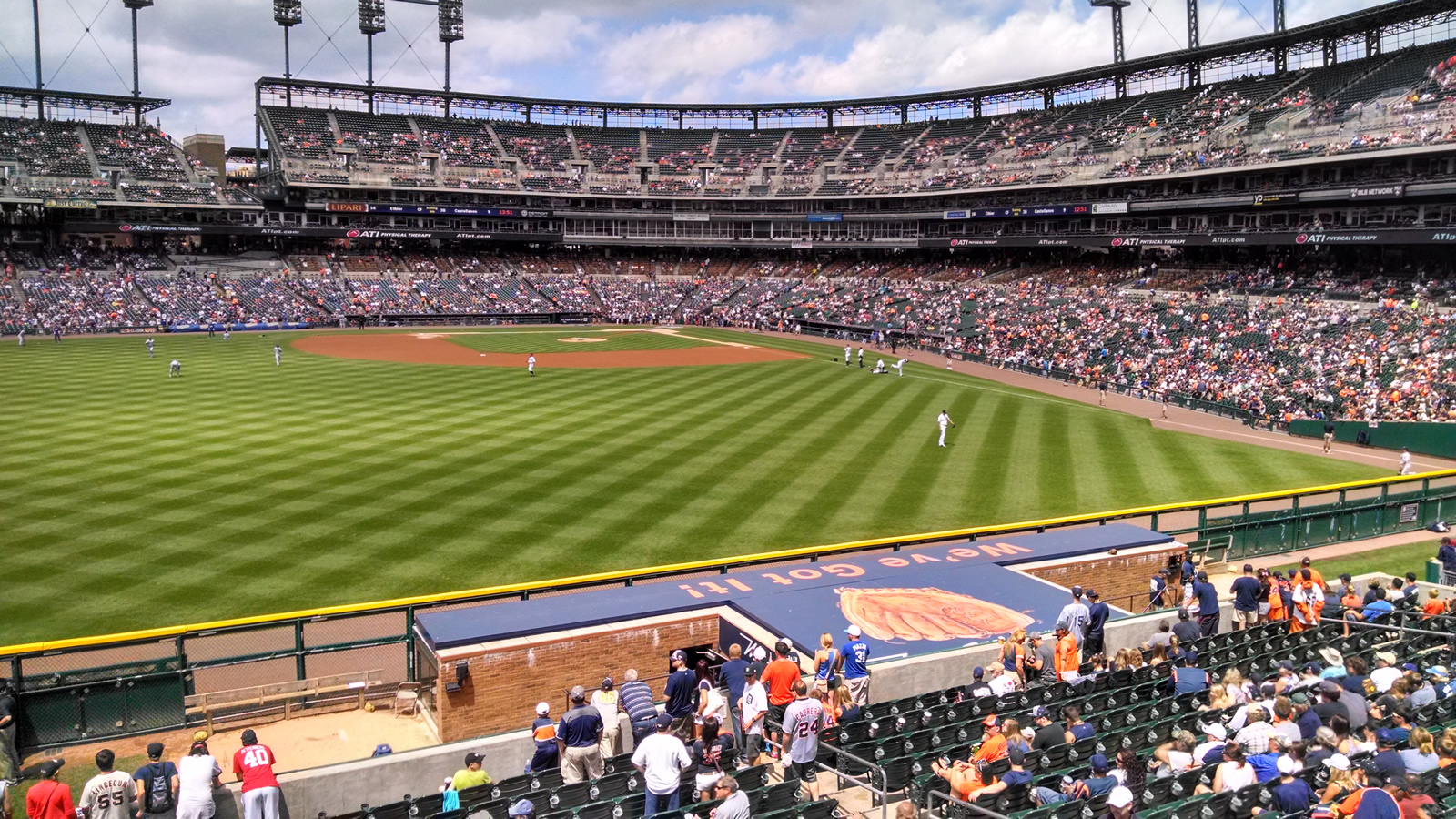 View From The Standing Room Only Area In Left Center Field