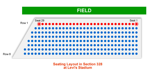How Many Seats Are In Row 1 Section 328 At Levi S Stadium