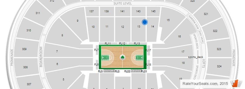 Boston Celtics Td Garden Seating Chart Interactive Map