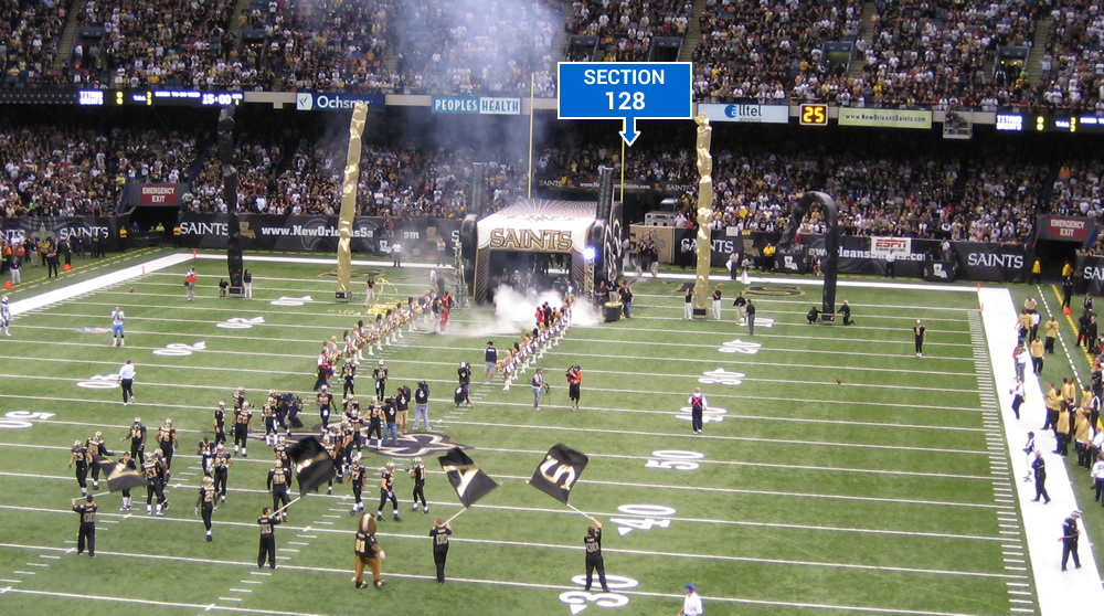 Where Do Players Enter The Field For Saints At Superdome