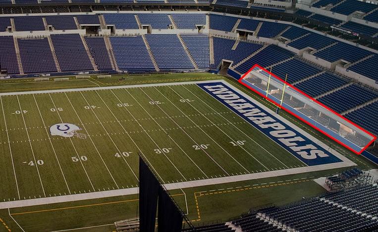 Field Suite Location at Lucas Oil Stadium