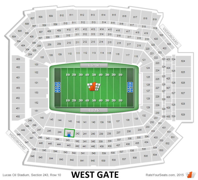 243, row 10 seat location