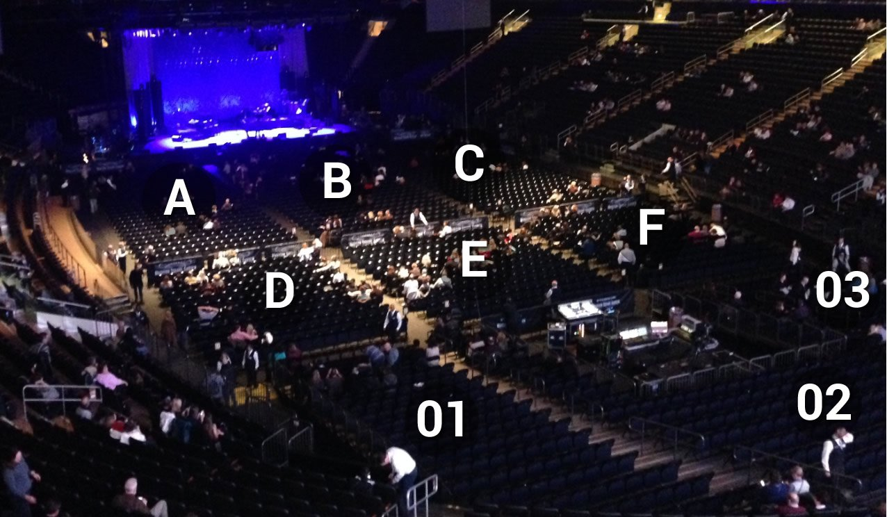 Are Sections 1 3 At MSG Elevated Over Other Floor Sections?