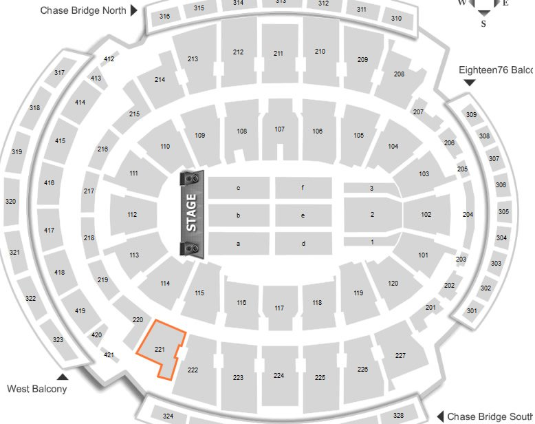 Where Is Seat 1 In Section 221 Row 12 At Madison Square Garden