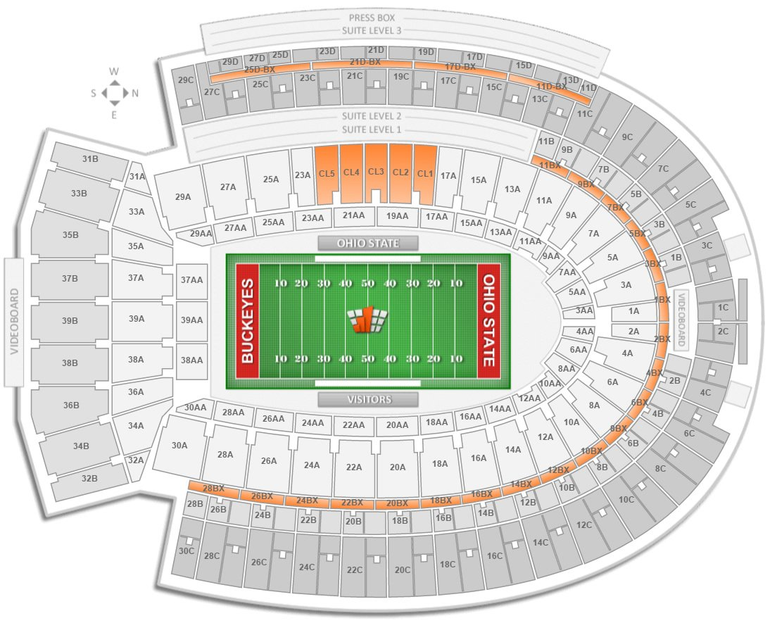Ohio state football ohio stadium seating chart rateyourseats com