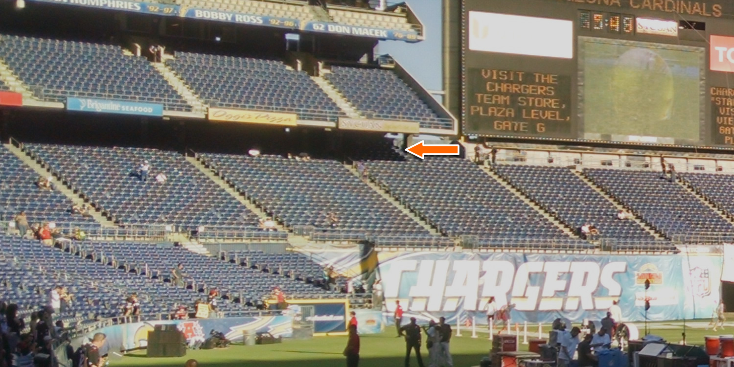 Is Plaza Section 59 Row 18 Covered Or Shaded At Qualcomm Stadium