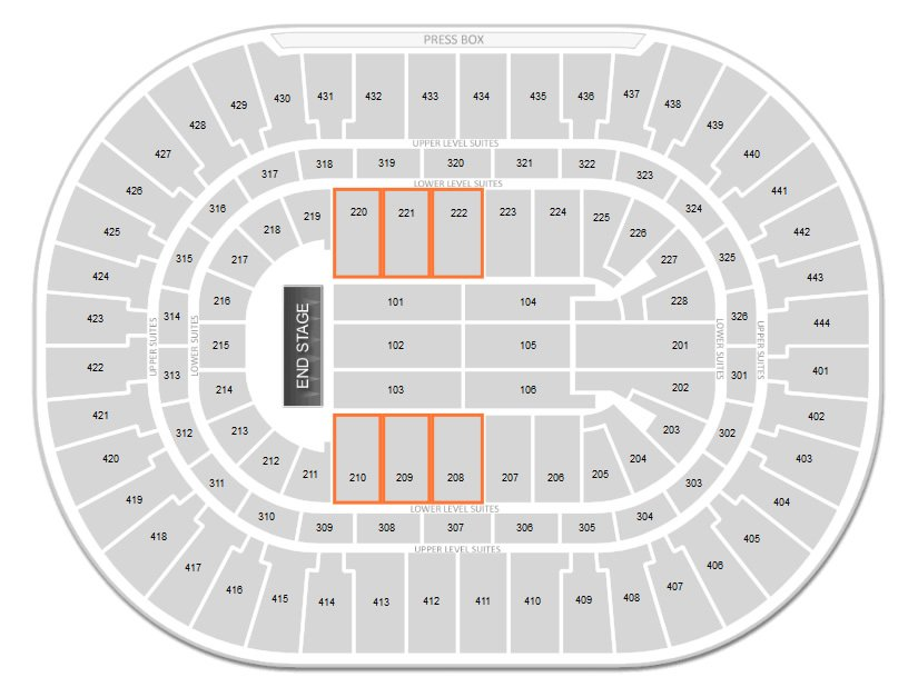 what are the best seats for a concert at the honda center