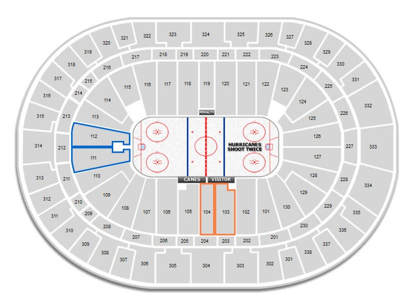 Visitor seating recommendations at PNC Arena