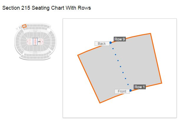 Seating Layout in Section 215