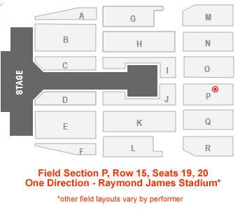 Raymond James Stadium Concert Seating Chart Interactive Map