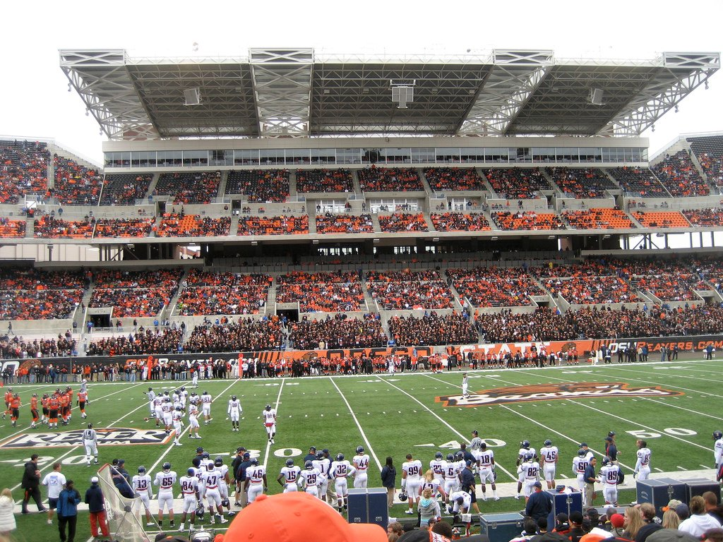 View from the West Sideline at Reser Stadium