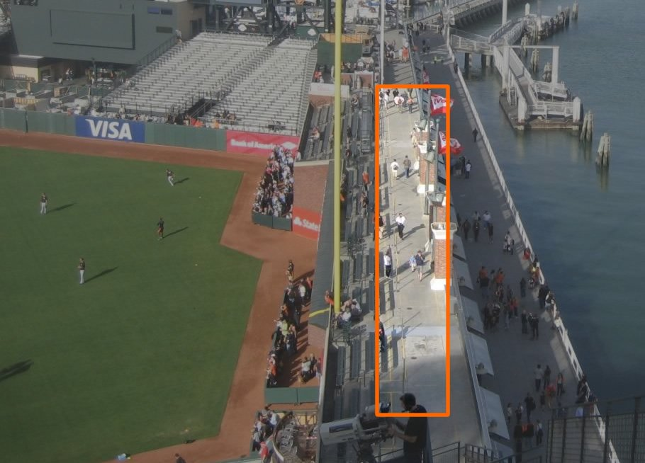 Standing Room Only behind Right Field at AT&T Park