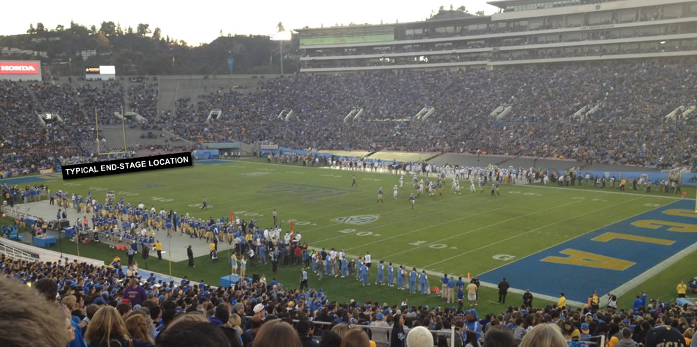 What Is The View Like From Section 8 H Row 57 For A Concert At Rose Bowl